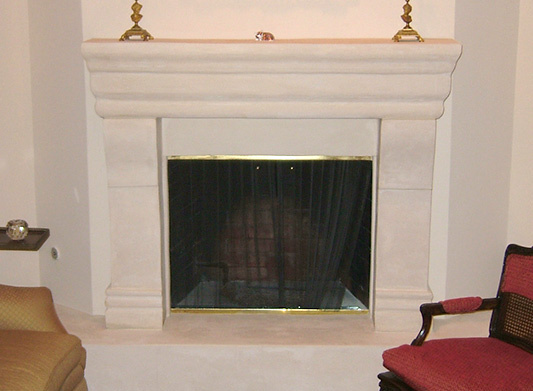 Custom Mantel Canterbury Legs ... - Custom Limestone Fireplace Mantels, Hearth Surrounds & Kit Designs