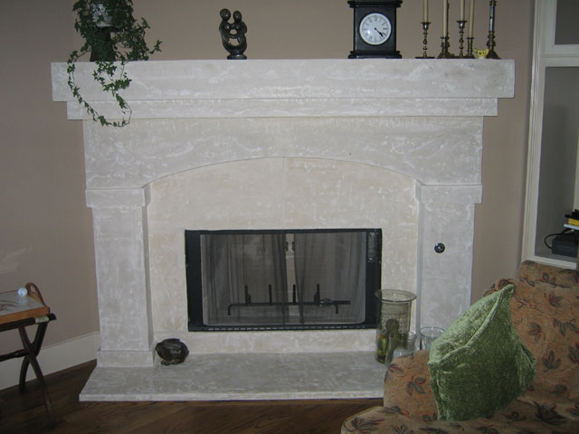 Custom rustic cast stone limestone fireplace mantels for Austin stone fireplace